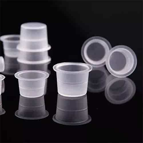 Disposable Tattoo Ink Cups-Small 100pcs Plastic Disposable Tattoo Ink Cups For Tattoo Permanent Makeup Container Cap Tattoo Accessory,Tattoo Ink,Tattoo Supplies,Tattoo Kits(#9mm—100pcs)