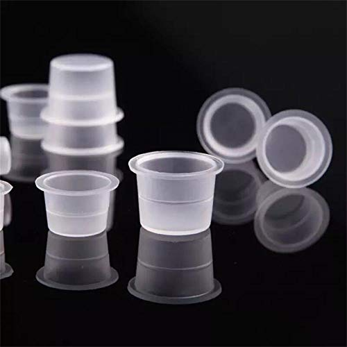 Disposable Tattoo Ink Cups-Small 100pcs Plastic Disposable Tattoo Ink Cups For Tattoo Permanent Makeup Container Cap Tattoo Accessory,Tattoo Ink,Tattoo Supplies,Tattoo Kits(#9mm-100pcs)