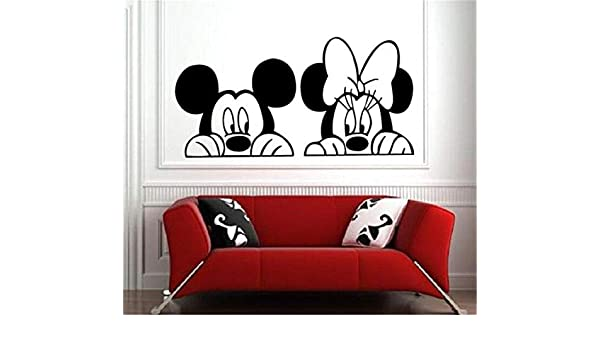 Mickey Mouse Etiqueta de La Pared Decal Mickey Minnie Mouse ...