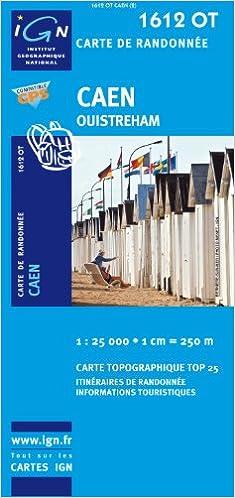 Amazon Fr Top25 1612ot Caen Carte De Randonnee Avec Une Regle Graduee Gratuite Top 25 Ign Livres