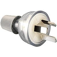 HPM CD100LCL 3 Pin PVC Plug Top, Clear, 11653046