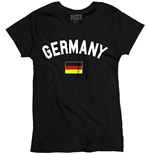 Germany Flag World Cup Soccer German National Flag Pride Ladies T-Shirt (Germany America Flag compare prices)