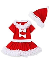 GSKids Baby-Girls Christmas Lace Skirt And Hat(2PCS)