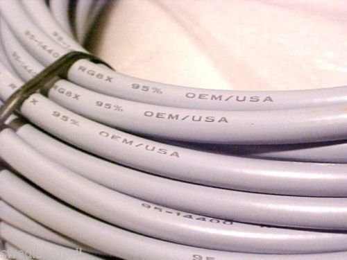 Redman Cb Made 50 ft RG8X COAX Gray CABLE CB / Ham Radio w/ PL259 Connector by Redman CB