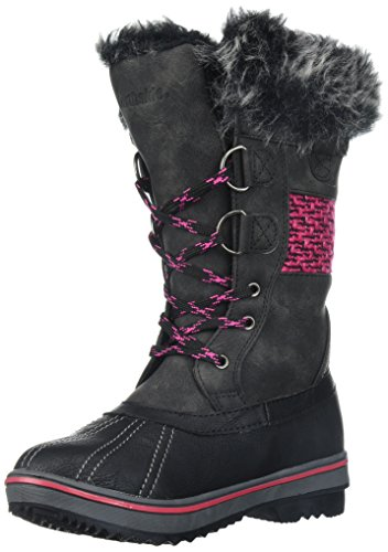 Northside Girls' Bishop JR Mid Calf Boot, Black/Fuchsia, Size 1 Medium US Little Kid