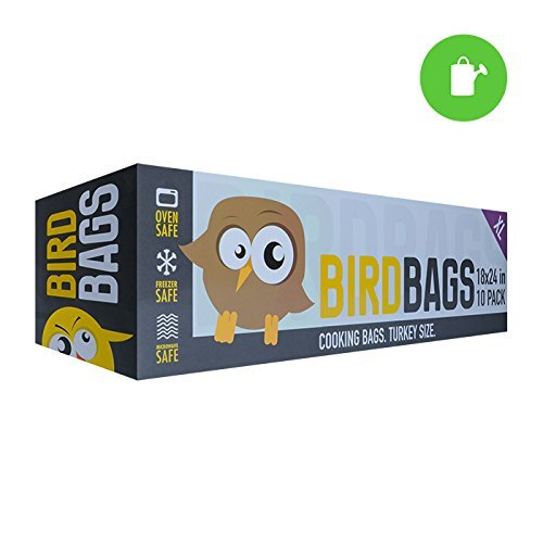 """BirdBag Oven Bags, Large 18"""" x 24"""" Turkey Size for Home Kitchen Food Preparation (10 (Aroma Roasting Oven)"""