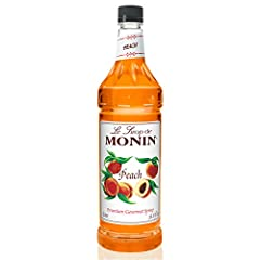 Each year, the summer season signals the arrival of juicy, sweet peaches. But infusing your recipes with the sweet, unmistakable summer flavor of peaches does not have to end when the season change. Monin Peach Syrup delivers sun-ripened peac...