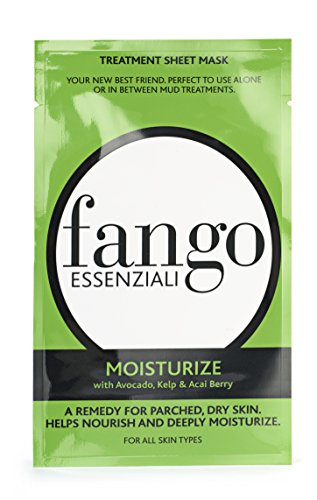 Borghese Fango Essenziali Treatment Sheet Mask Moisturize with Avocado, Kelp & Acai Berry, 0.83 fl.oz.