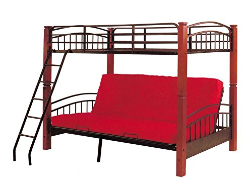 wood bunk bed with futon - 3