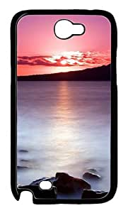 Sunset Lake Polycarbonate Hard Case Cover for Samsung Galaxy Note 2/ Note II/ N7100 Black