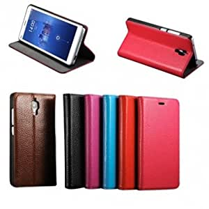 Genuine Cowhide Contracted Style Leather Case For Xiaomi 4 Mi4 --- Color:Red
