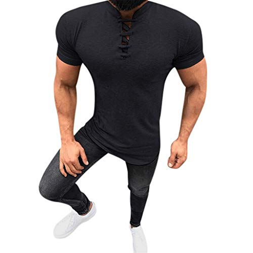 St.Dona_Men Men's Hoodied Short Sleeve T Shirt Active Running Quick Dry Sportswear Black