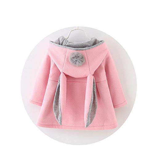 Infants Girls Cute Rabbit Hooded Princess Jacket Coats, used for sale  Delivered anywhere in USA