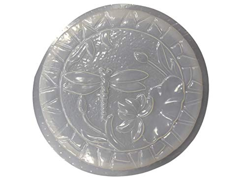 Round Dragonfly Stepping Stone Concrete or Plaster Mold 1106 ()