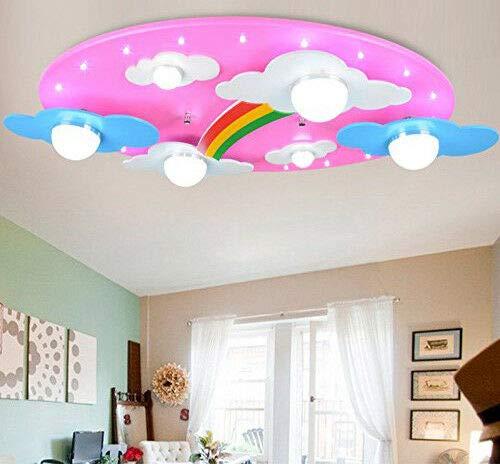 FidgetGear Animal Lighting Chandelier Kids Room Ceiling Lamp Children Pendant Light Fixture Pink Rainbow by FidgetGear