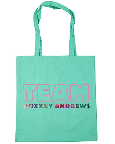 HippoWarehouse equipo roxxxy Andrews Tote Compras Bolsa de playa 42cm x38cm, 10litros verde menta