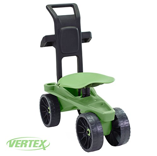 Gardening Stool Wheels (Easy Up Deluxe XTV Rolling Seat and Scoot Gardening Scooter - Adjustable Swivel Seat, Heavy Duty Wheels, and Ergonomic Design To Assist Standing, Sitting, and Bending Over Made in the USA)