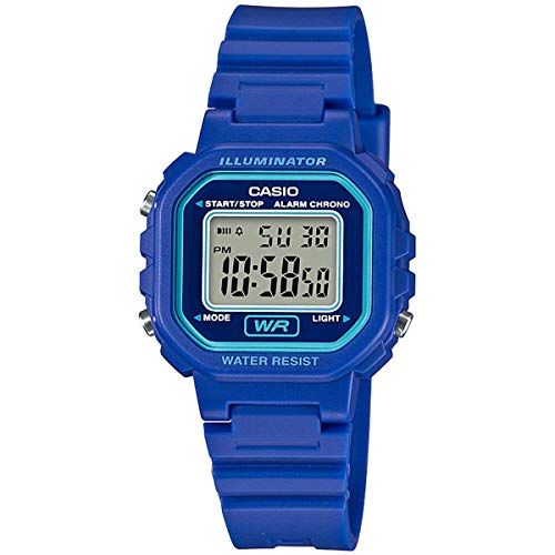 Casio Women's Classic Quartz Watch with Resin Strap, Blue, 9.5 (Model: LA-20WH-2ACF)