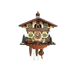 Cuckoo Clock Chalet with moving children on a swing