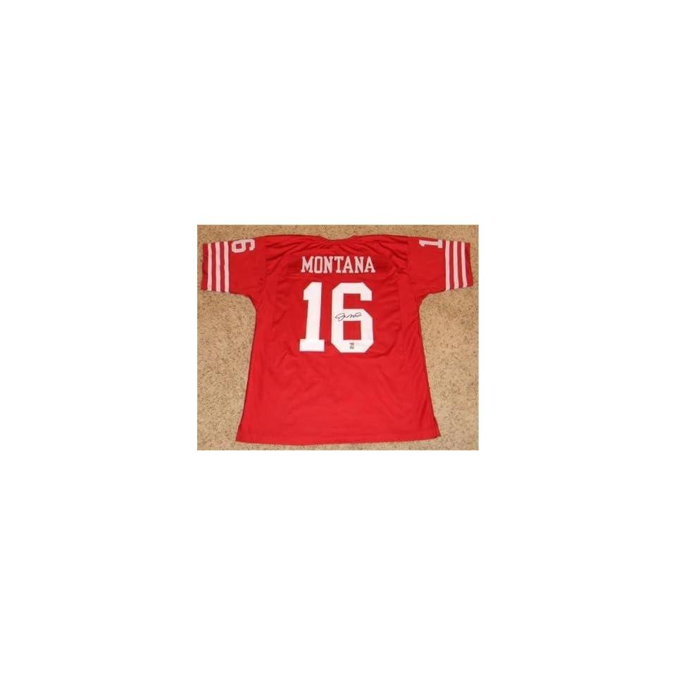 Joe Montana Signed Jersey   49ers Holo   Autographed NFL Jerseys