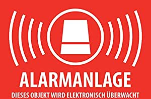 10 x alarmas, Sistema de Alarma, videovigilancia, Adhesivo ...
