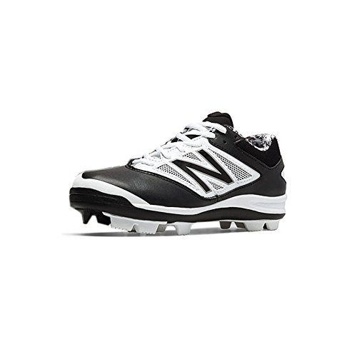 - New Balance Low-Cut 4040v3 Kids Rubber Molded Baseball Cleat Black/White