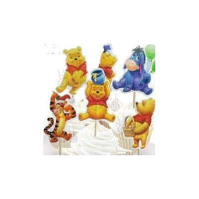 Disney Winnie The Pooh Dessert Muffin Cupcake Toppers for Wedding Baby Shower Birthday Party (Pack of 24): Toys & Games