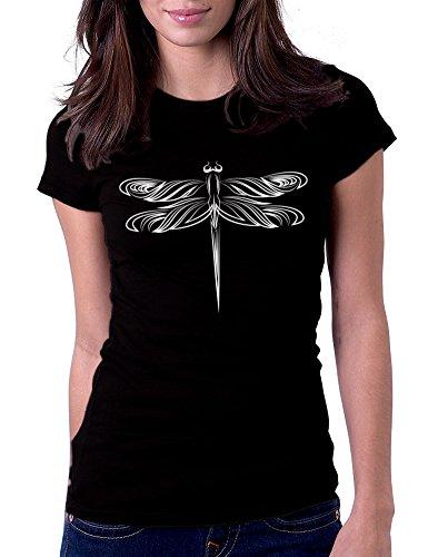 Dragonfly - Womens Tee T-Shirt, Small, Black