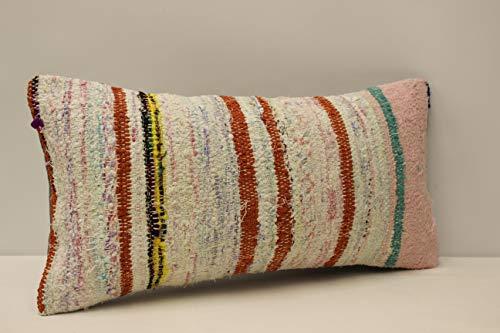 Handmade Kilim Cushion - Throw Pillow cover 10x20 inch (25x50 cm) lumbar pillow Retro Pillow Living Room Kilim pillow cover Novelty Home Decor Handmade Kilim cushion cover Decorative pillow Armchair pillow