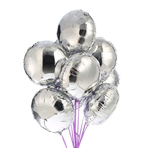 50pcs Round Shaped Foil Mylar Helium Balloon 18