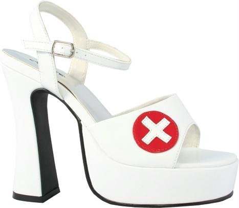 Ellie Chaussures - Infirmière Betty (blanc) Chaussures Adultes Blanc