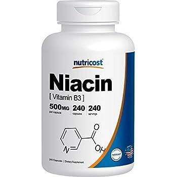 Nutricost Niacin (Vitamin B3) 500mg, 240 Capsules