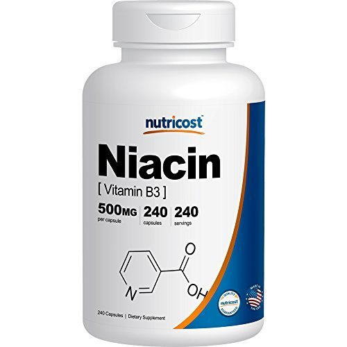 Nutricost Niacin Vitamin 500mg Capsules product image