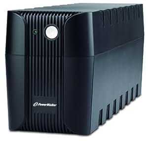 Aiptek PowerWalker VI 600 SE - Fuente de alimentación continua (UPS) (600 VA, 360 W, 50/60 Hz, 12V 28W/7Ah, 6 h, 20 min) Negro