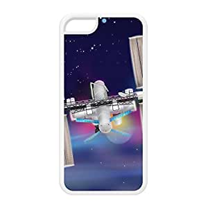 International Space Station White Silicon Rubber Case for iPhone 5C by Nick Greenaway + FREE Crystal Clear Screen Protector