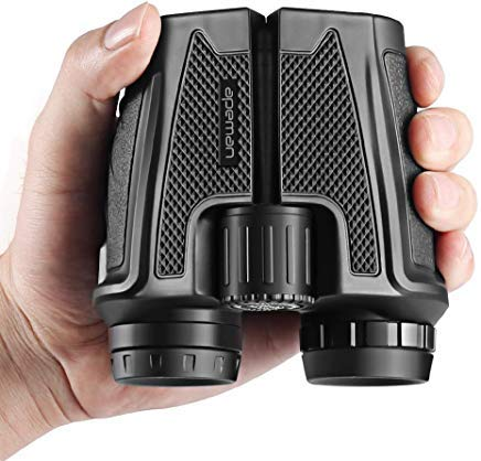 APEMAN 12x25 Binoculars for Adults,Folding High Powered Binoculars with Weak Light Night Vision Clear for Bird Watching Outdoor Sports Games and Concerts (12x25) ()
