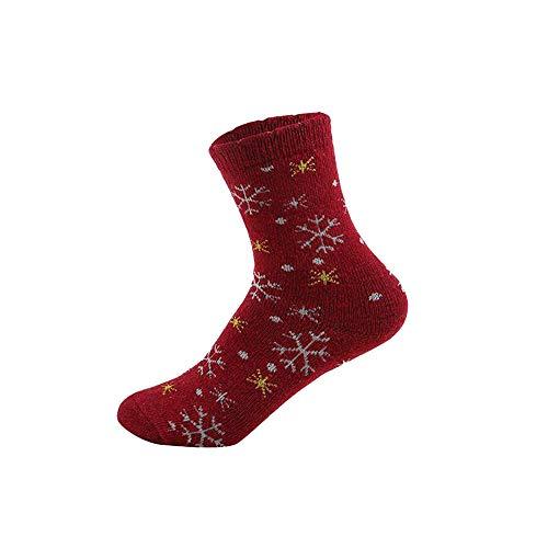 Merry Christmas! Cartton Socks,Women Winter Warm Cotton Reindeer Xmas Gift Snowman Bear Santa Claus Stockings  (Free Size, D)