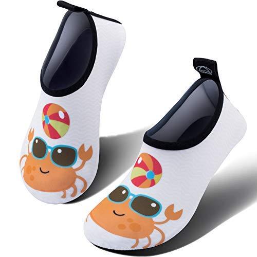 SIMARI Kids Water Shoes Girls Boys Toddler Quick Dry Anti Slip Aqua Socks for Beach Outdoor Sports 305 Crab 9.5~11