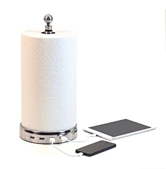 USB Paper Towel Holder And Charger