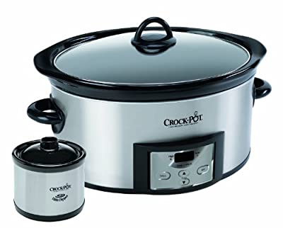 Crock-Pot SCCPVC605-S 6-Quart Countdown Oval Slow Cooker with Dipper, Stainless Steel from Crockpot