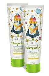 Babyganics Diaper Rash Cream, 4oz Tube (Pack of 2)