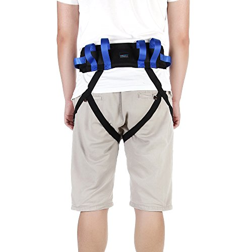 Transfer Gait Belt Patient Walking Safety Lift Sling Medical Slide Board Wheelchair & Bed Transport Physical Therapy Nursing Assistant Gate Belts (Transfer Belt with Leg Loops) by NEPPT