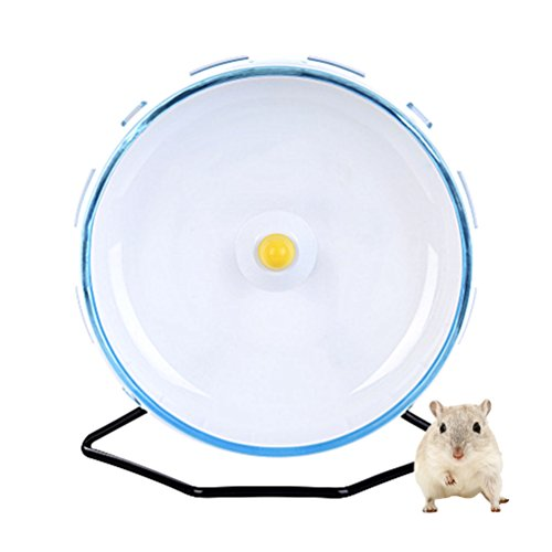 Petacc Hamster Exercise Wheel Hamster Toy Small Animal Wheel with Holder, 8'' Diameter (Blue) by Petacc
