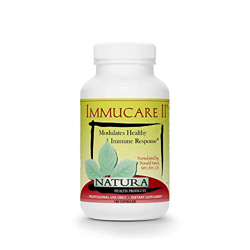 Botanical Treasures - Natura Health Products - Immucare II Immune System Optimizer - Natural Immune Support Formula with Coriolus, Reishi, Poria cocos and Chaga Mushroom Extracts for Detoxification Activity - 180 Capsules