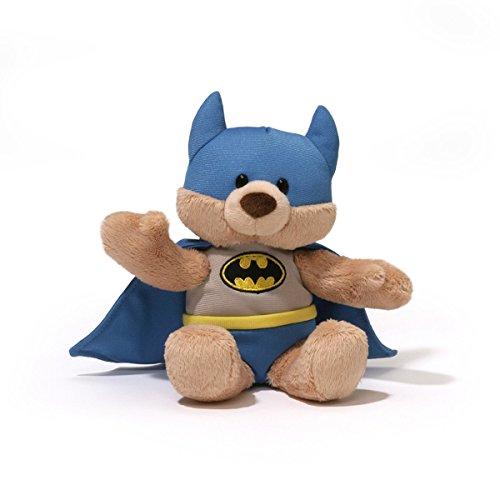 GUND DC Comics Batman Teddy Bear Stuffed Animal Bendable Plush, (Pug In A Batman Costume)