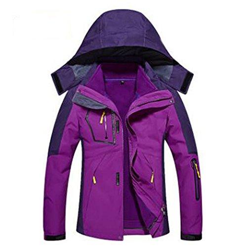 Caldo Giacche Pile Tre Capispalla Wear In Fodera Rimovibile Viola Mountain Da Donna Una ArgA0
