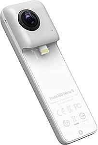 insta360 Nano S Action Camera 360 Grados Compatible con iPhone, vídeo 4 K, Plata