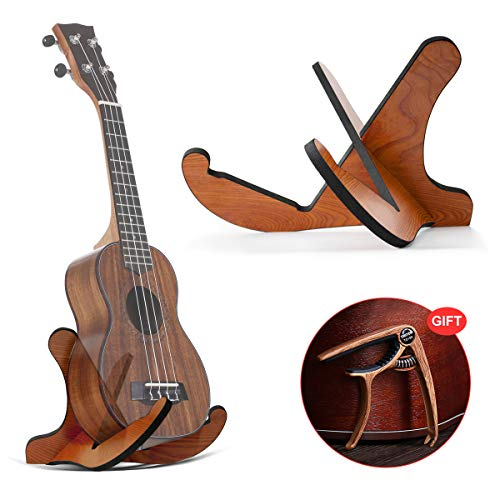 - DTNO.I Guitar Stand, Universal Wooden Guitar Stand Acoustic Guitar Stand with Guitar Capo, Portable Detachable Instrument Holder Stand for Musical String Instrument and Acoustic Classical Bass Guitars