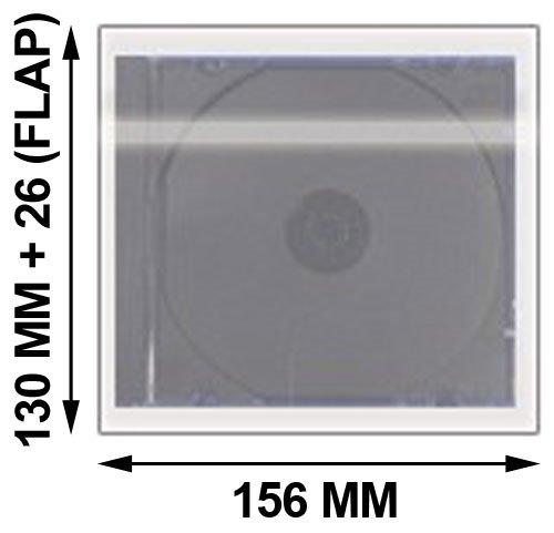 (mediaxpo 500 OPP Plastic Wrap Bag for Standard CD Jewel Case 10.4mm)