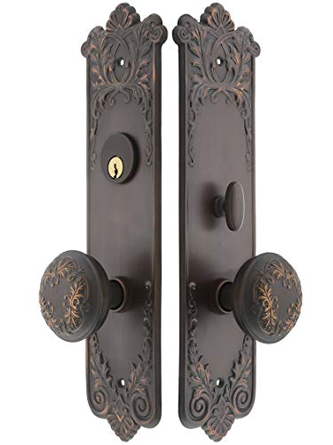 House of Antique Hardware R-05CH-LOR-ENTRY-2-3-4 Lorraine Mortise Entry Set in Oil-Rubbed Bronze - 2 3/4
